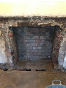 knocked out fireplace