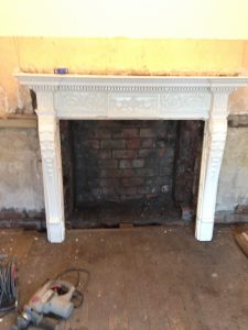 checking fire surround on fire opening