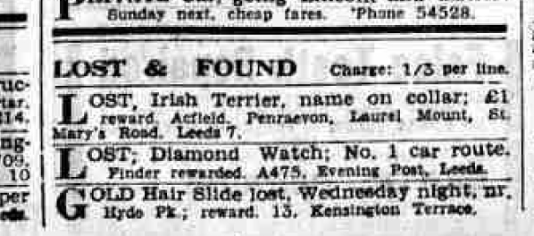 1939 ackfield lost dog