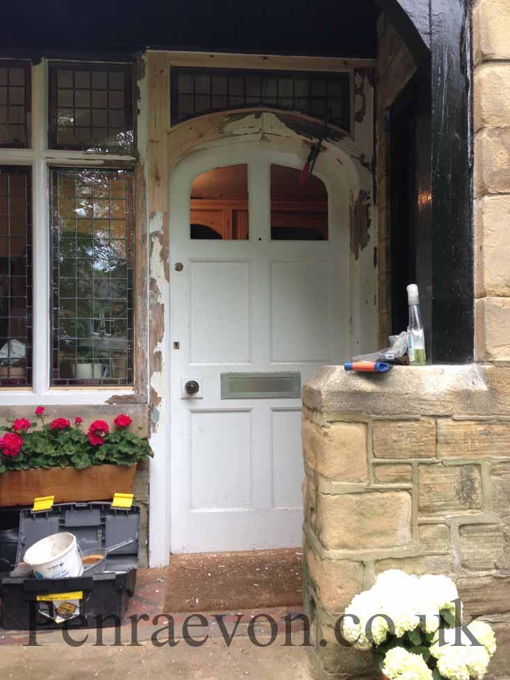 repairing the door