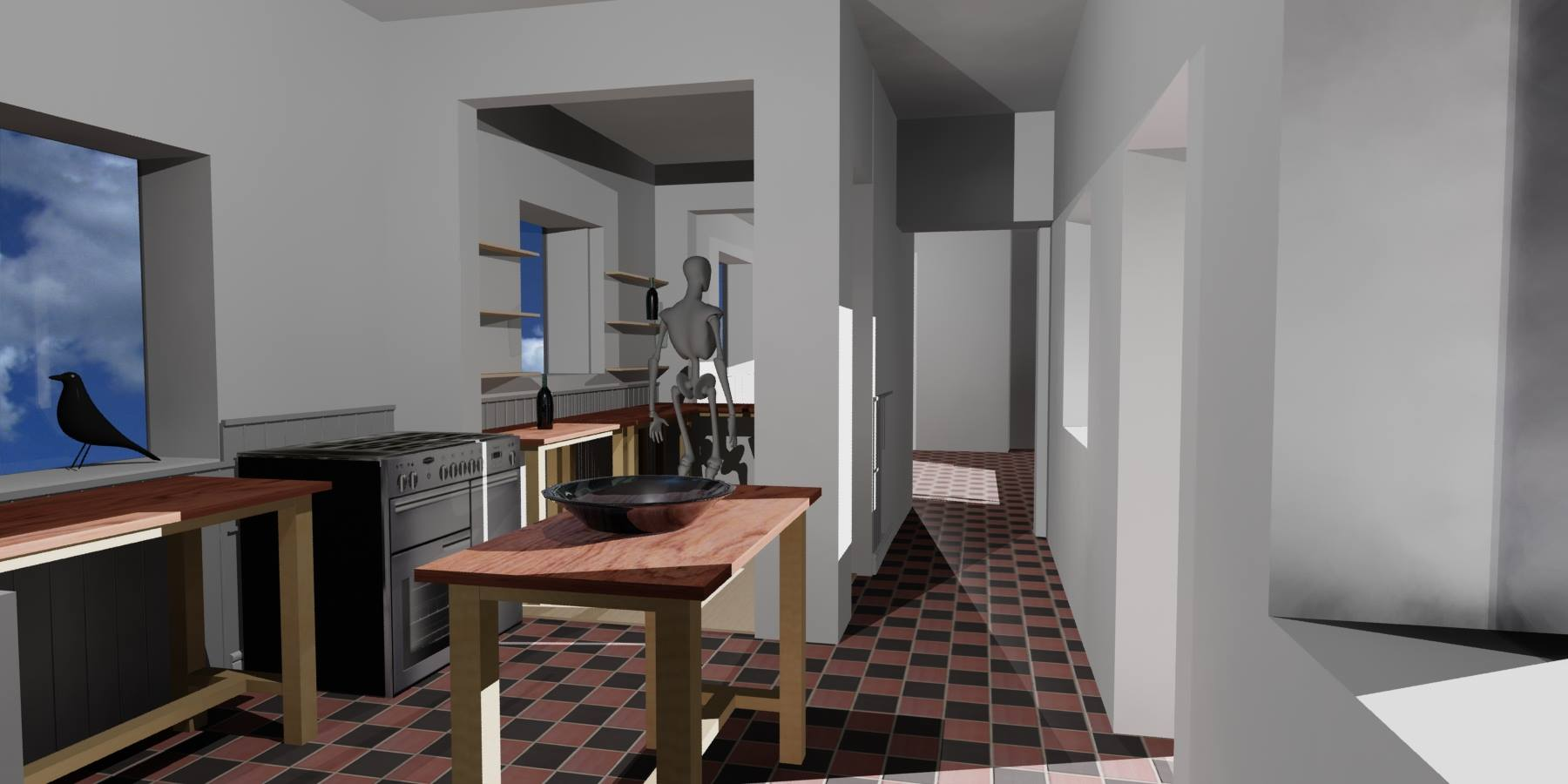 The Pantry Will Become Part Of Kitchen But Be Still Divided From Dining Room Floor In Also Different No Choice