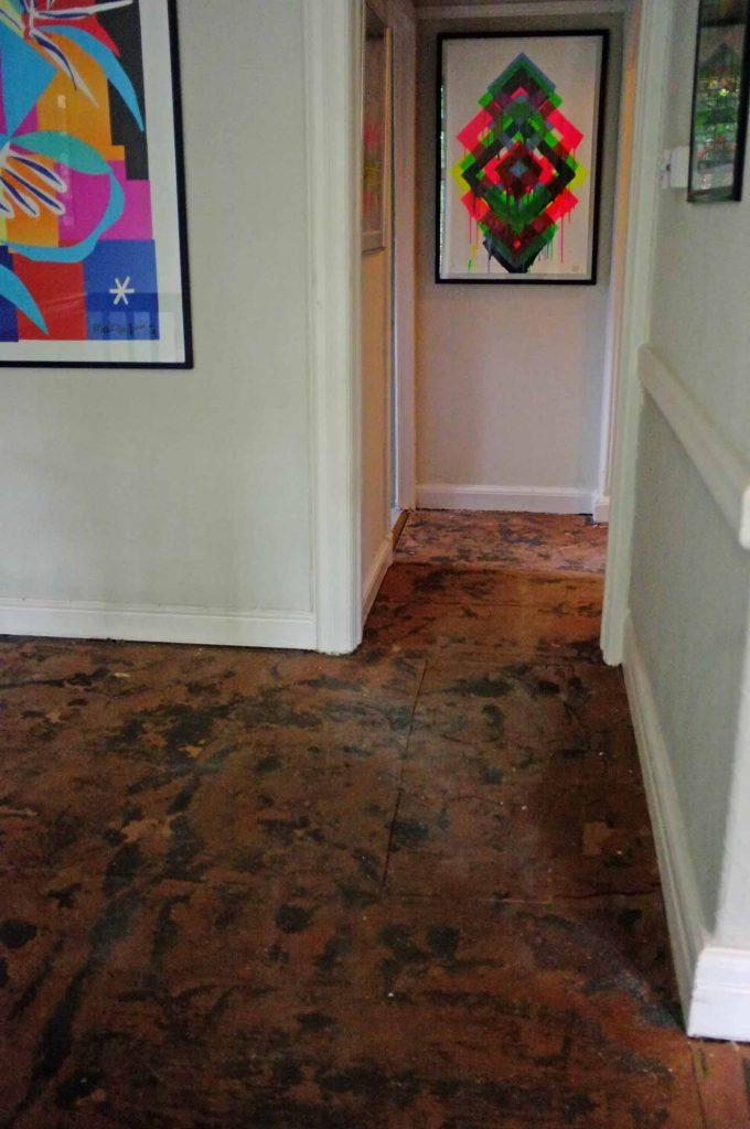 hardboard floor
